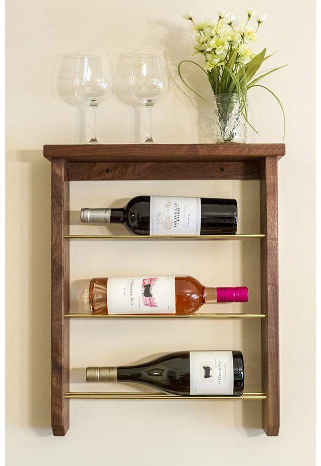 Hacer su propio estante del vino montado en la pared.