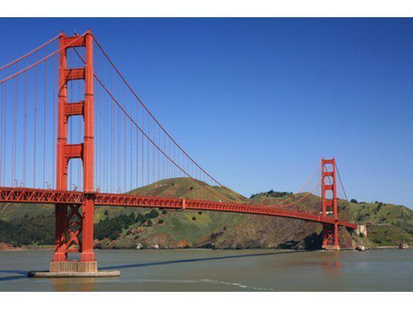El puente Golden Gate es un puente colgante.