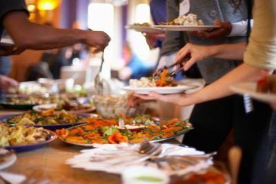Buffet ideas del partido de cena