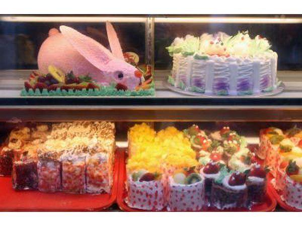 pasteles especializados en pantalla panadería