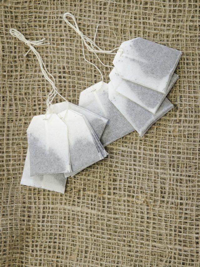 bolsas de té en tela de cáñamo