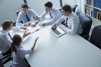 reunión de negocios de la compañía