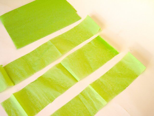 Recorte tejido color en tiras de 3 pulgadas.