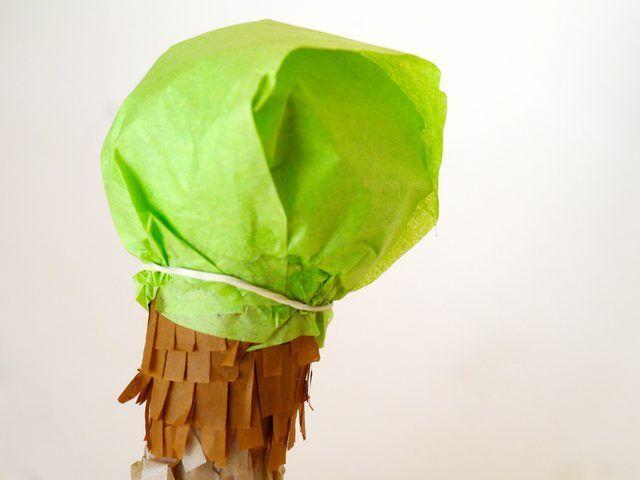 Utilice tiras de tejido de color para hacer que el sabor de helado.