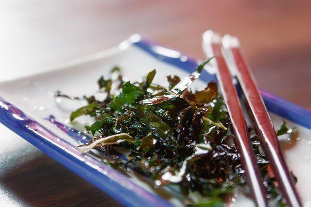 Cómo hacer china crujiente de algas marinas
