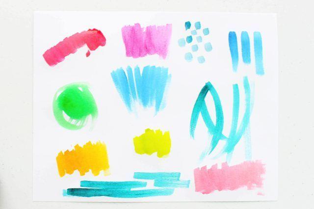 las pinturas de acuarela sobre papel