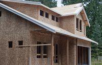 Imagen de una casa en construcción.