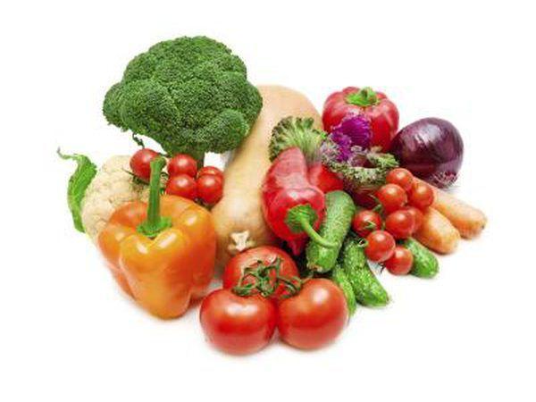 frutas y verduras frescas.