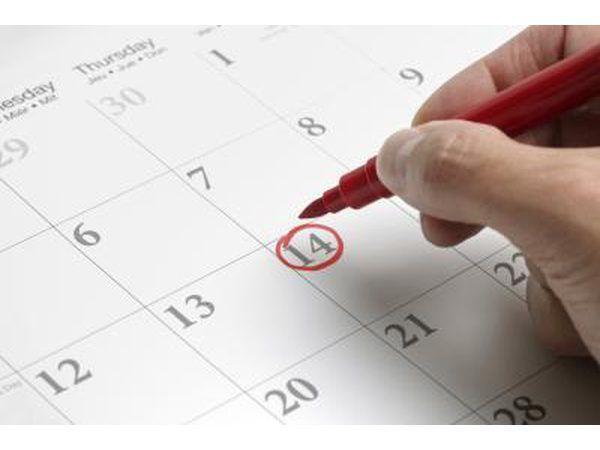fecha en el calendario que marca mujer