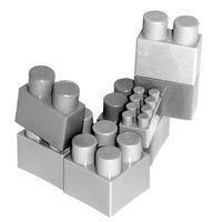 Los juguetes de bloques de construcción populares se pueden utilizar para llevar a los compañeros de trabajo juntos.