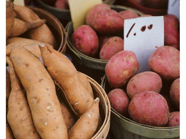 Ñame y patatas son tercero en la lista de los almidones resistentes a altas.