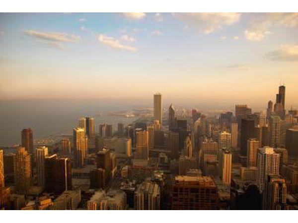 Vista de Chicago, una ciudad grande.