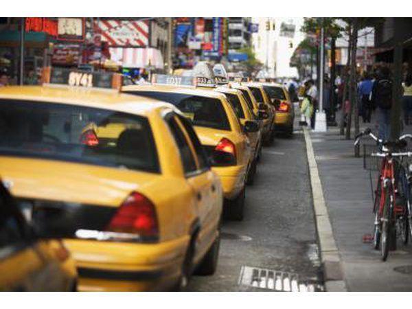 Los taxis en la ciudad de Nueva York.