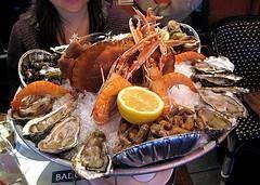 Los mariscos los cuales son altos en colesterol?
